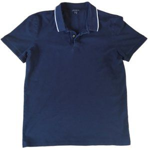 Theory Navy Polo Shirt Size M
